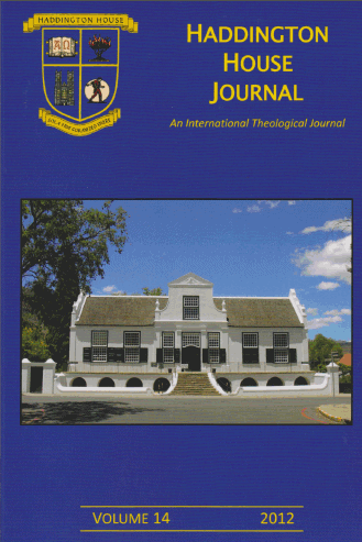 Haddington House Journal volume 14 online