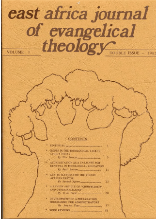 East Africa Journal of Evangelical Theology now on-line