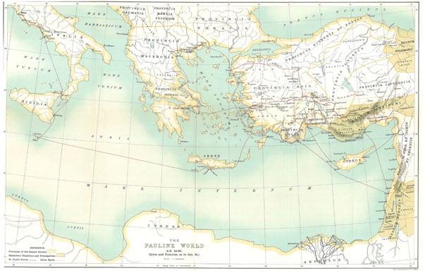 William M Ramsay's Map of the Pauline World