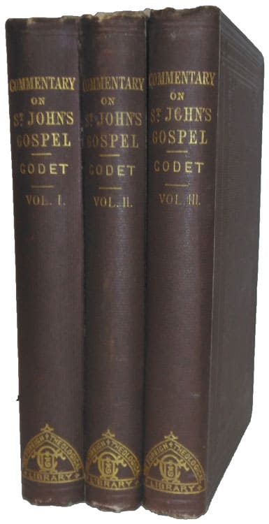 Frédéric Louis Godet [1812-1900], Commentary on the Gospel of St. John With a Critical Introduction, 3rd edition, 3 Vols.