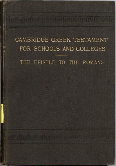 Reginald St. John Parry [1858-1935], The Epistle of Paul the Apostle to the Romans