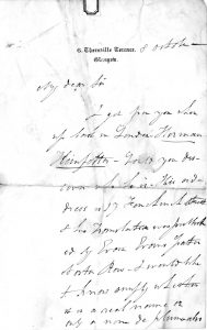 Letter from John Eadie to Charles Spurgeon