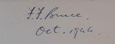 F.F. Bruce signature