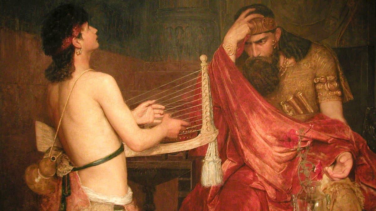 David and Saul, by Ernst Josephson
