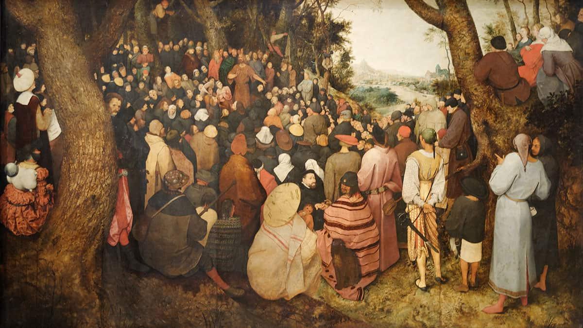 The Preaching of St. John the Baptist by Pieter Bruegel the Elder, 1566.