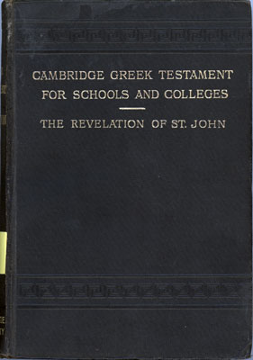 William Henry Simcox [1843-1889], The Revelation of S. John the Divine with Notes and Introduction